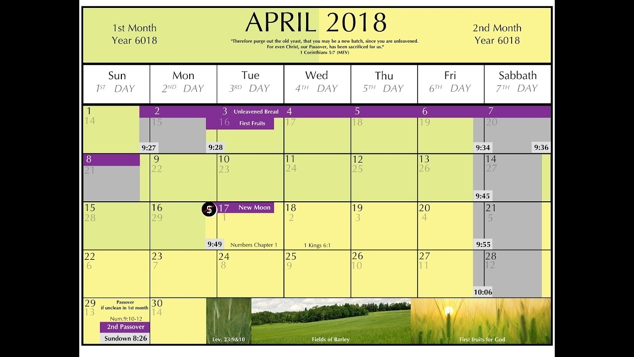 God's Calender 2017 - 2018 (Original Hebrew And Bible Calendar with regard to Hebrew Calendar And Moon Calendar