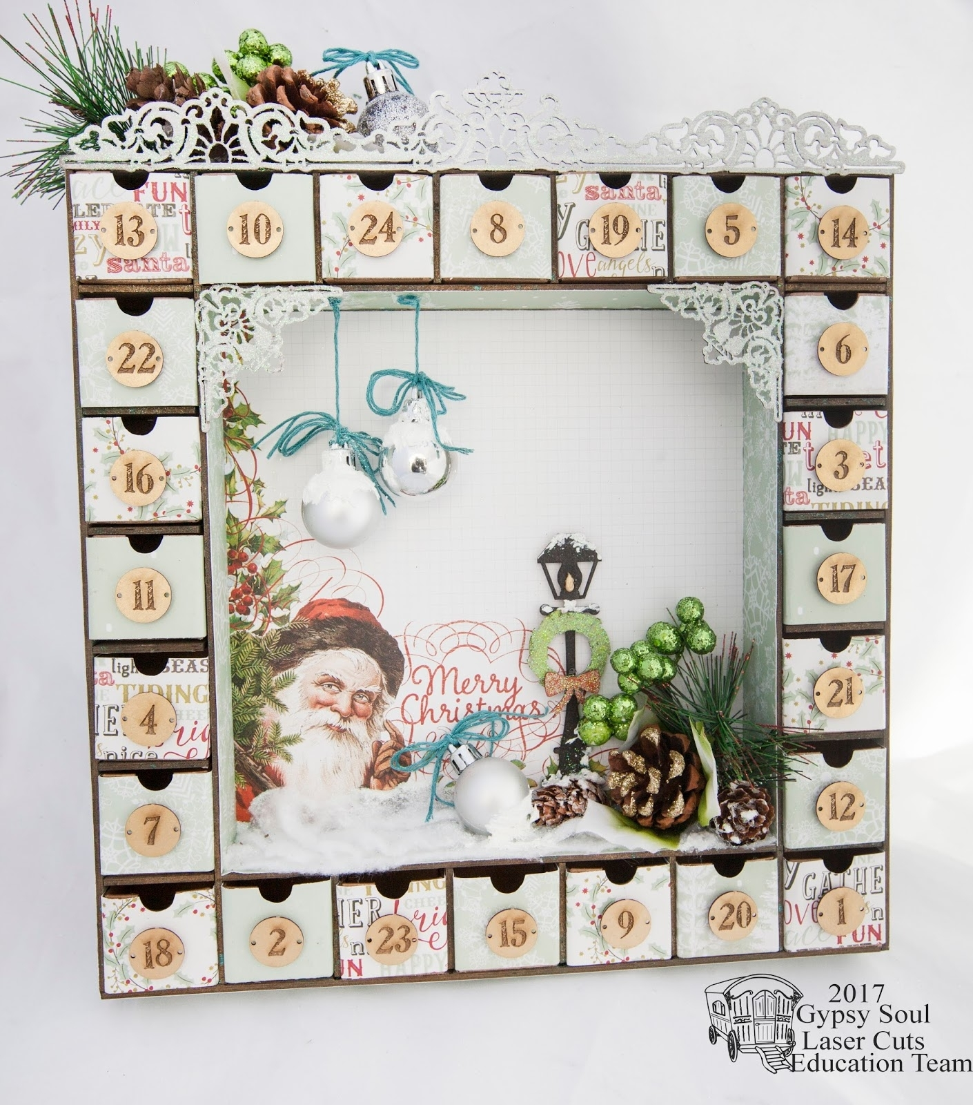 Gypsy Soul Laser Cuts: Advent Calendar With Alicia Barry pertaining to Wooden Shadow Box Advent Calendar