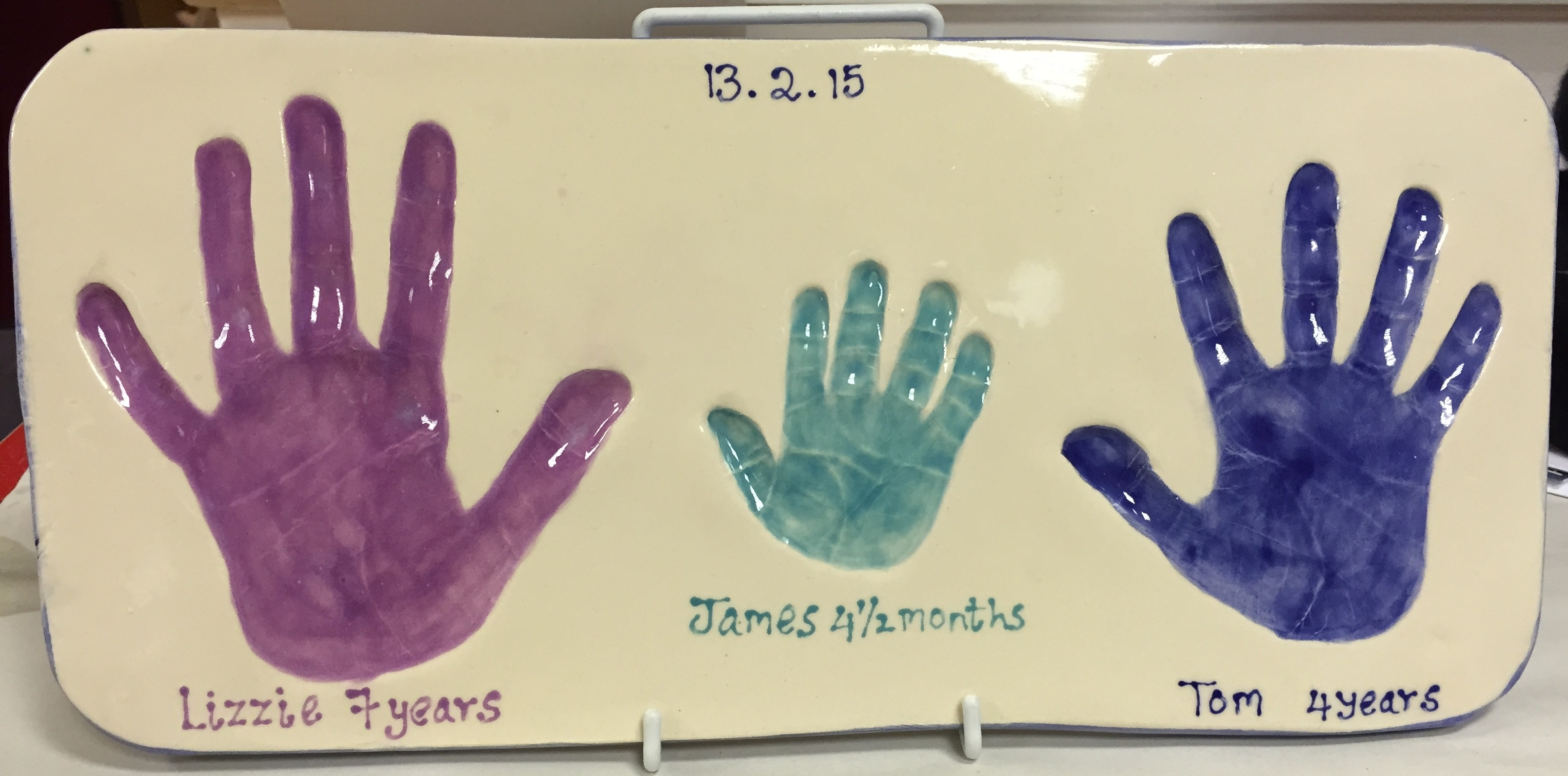 Hand & Footprints - Fired Treasures regarding Handprint Footprint With Siblings Ideas