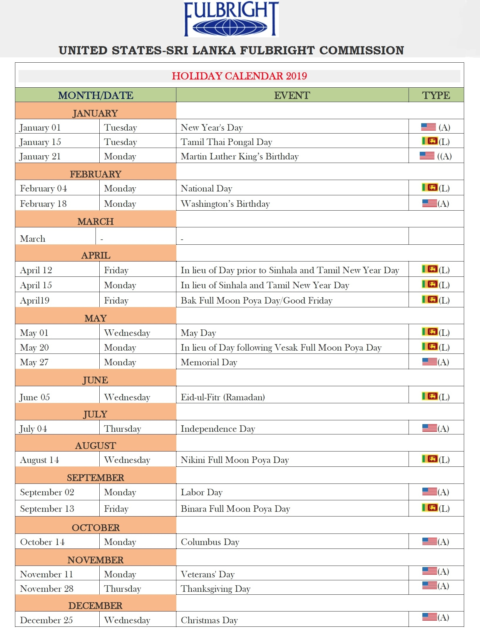 Holidays For 2019 with regard to 2012 Calendar Sri Lanka With All Holidays