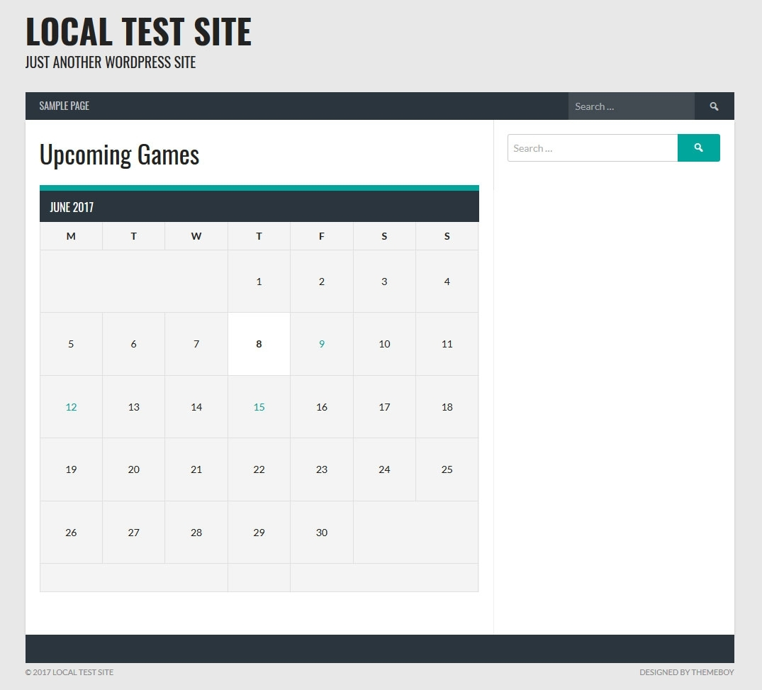 How To Add An Event Calendar & Upcoming Games To A Sports Team Site in Football Theme Blank Dates Calendar