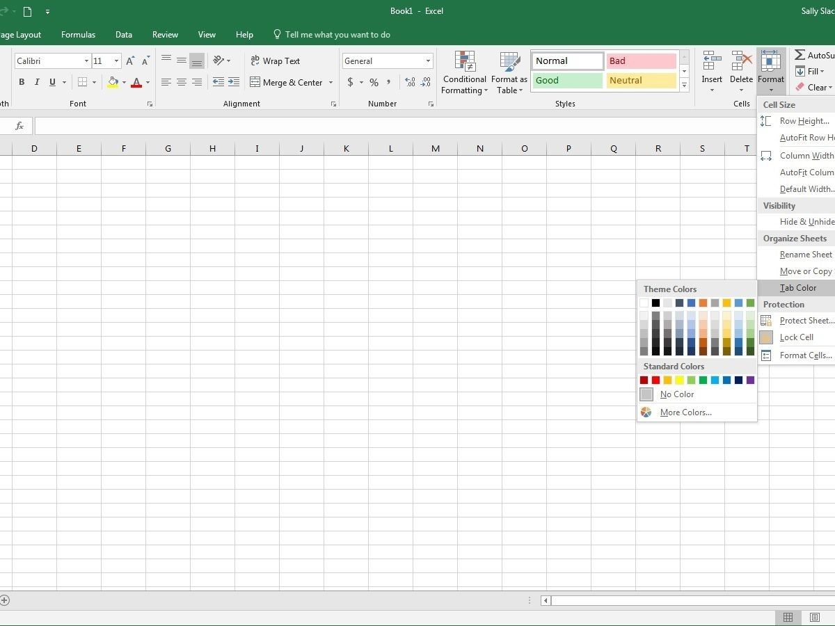 How To Change Worksheet Tab Colors In Excel within Colouring In Square Sheets For Year Three No Color
