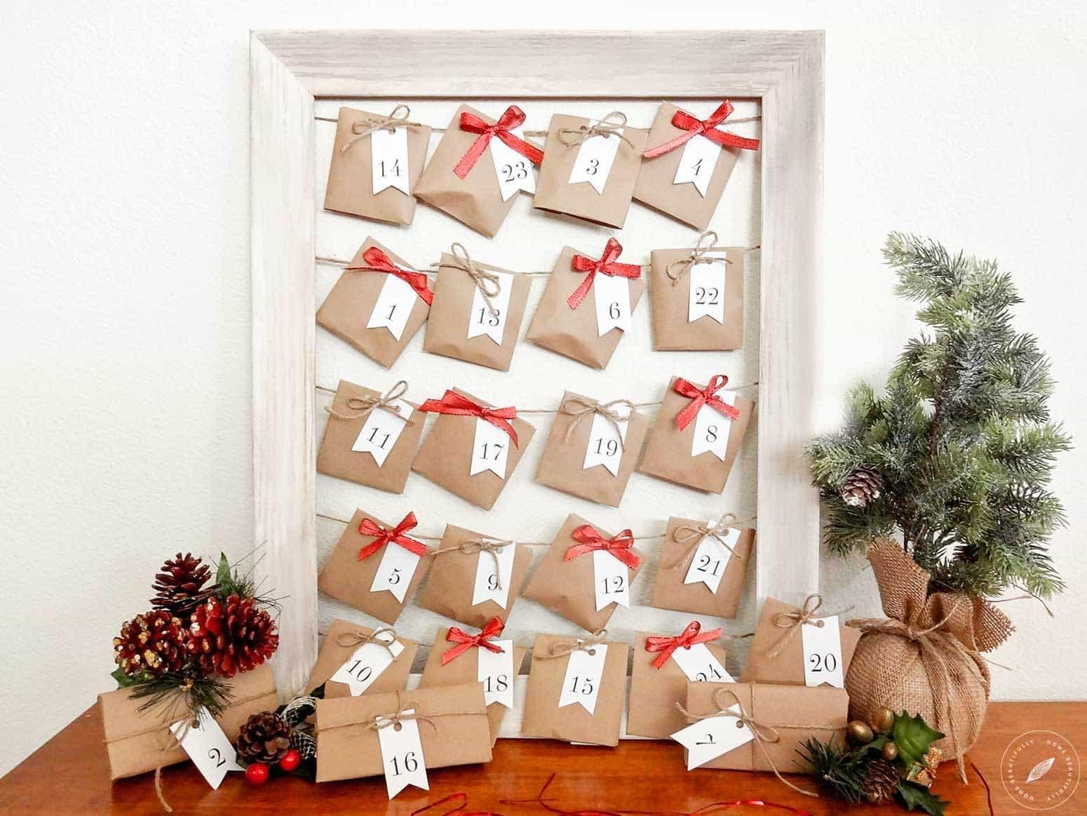 How To Create A Easy, Fun Diy Advent Calendar for Create An Advent Calender Wooden