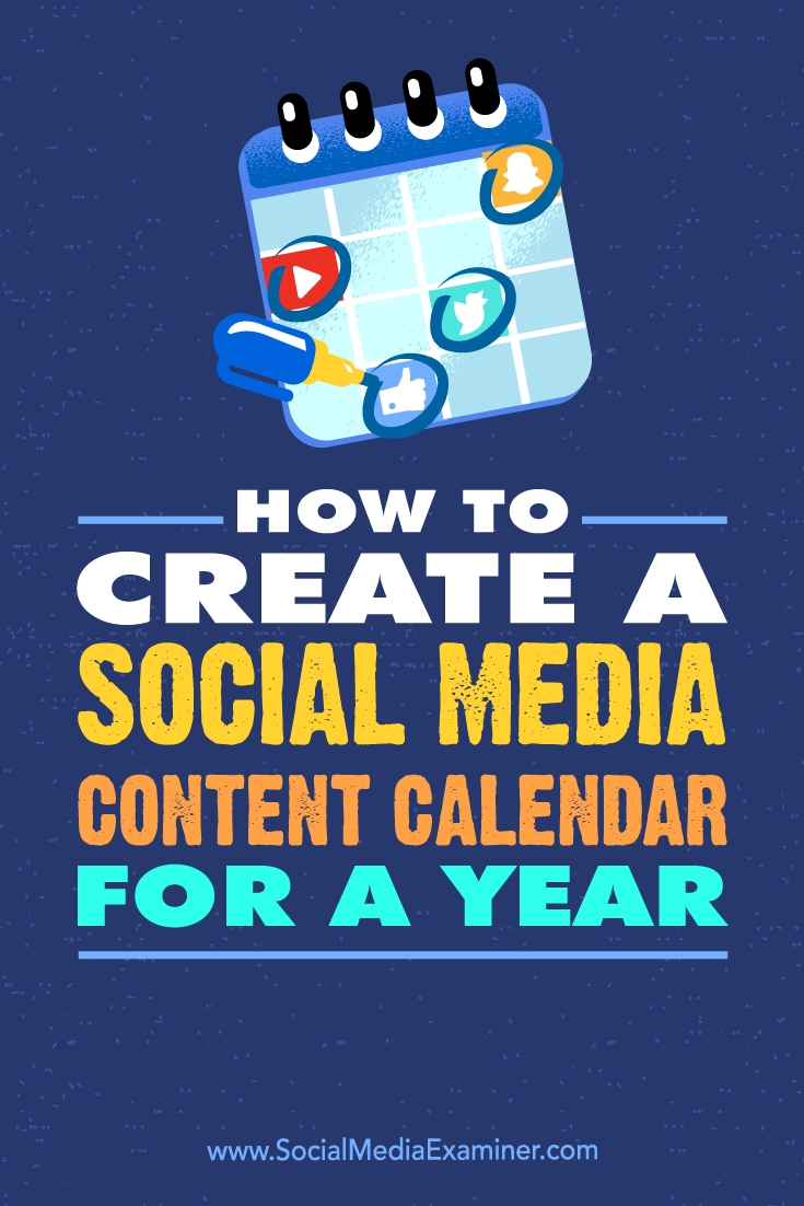 How To Create A Social Media Content Calendar For A Year : Social intended for Social Media Calendar For Apparel Brands