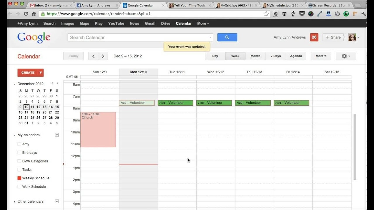 How To Create A Weekly Schedule In Google Calendar (From Tell Your regarding How To Create A Weekly Calendar