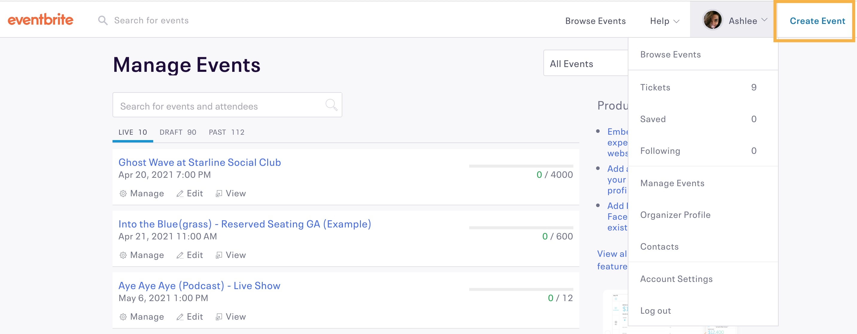 How To Create And Edit Ticket Types | Eventbrite Help Center regarding Example Table For 1 Month 1 Week Event Process