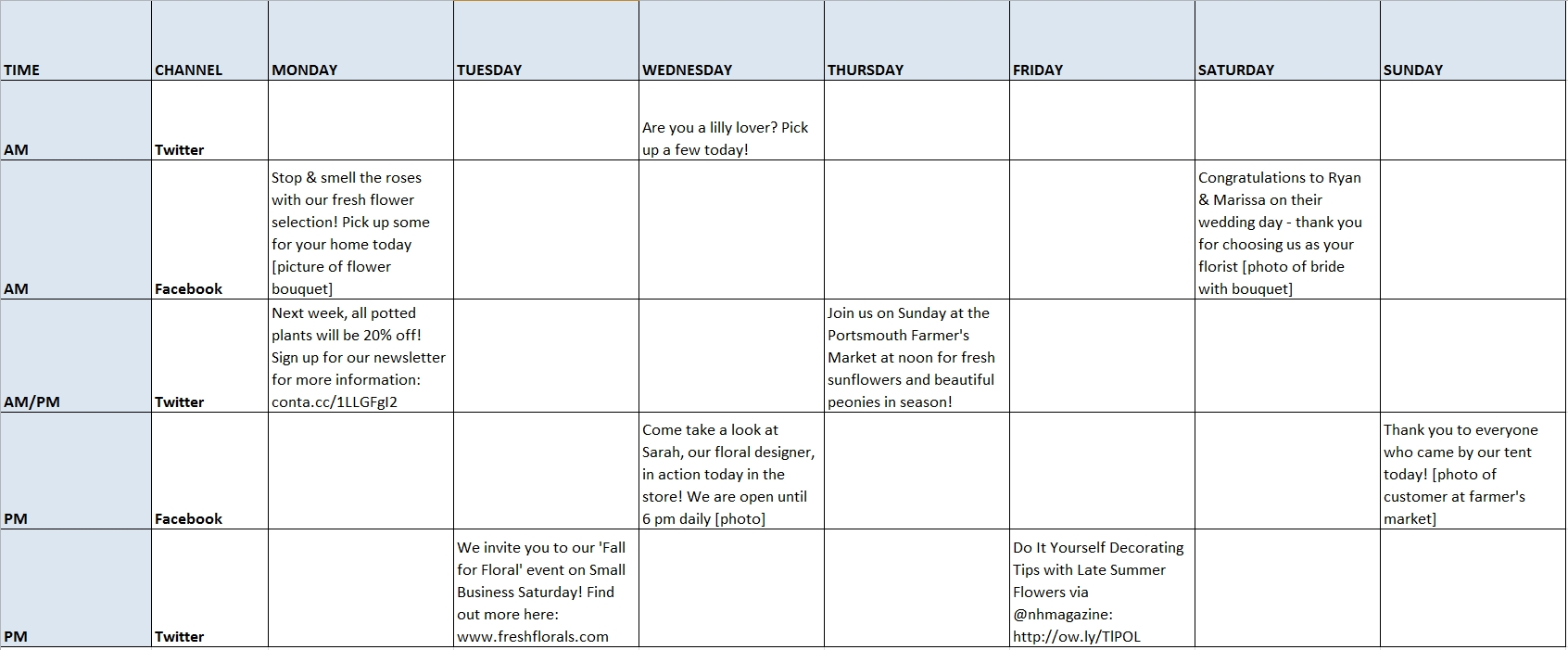 How To Create And Manage A Social Media Schedule In 3 Easy Steps throughout Social Media Content Weekly Schedule