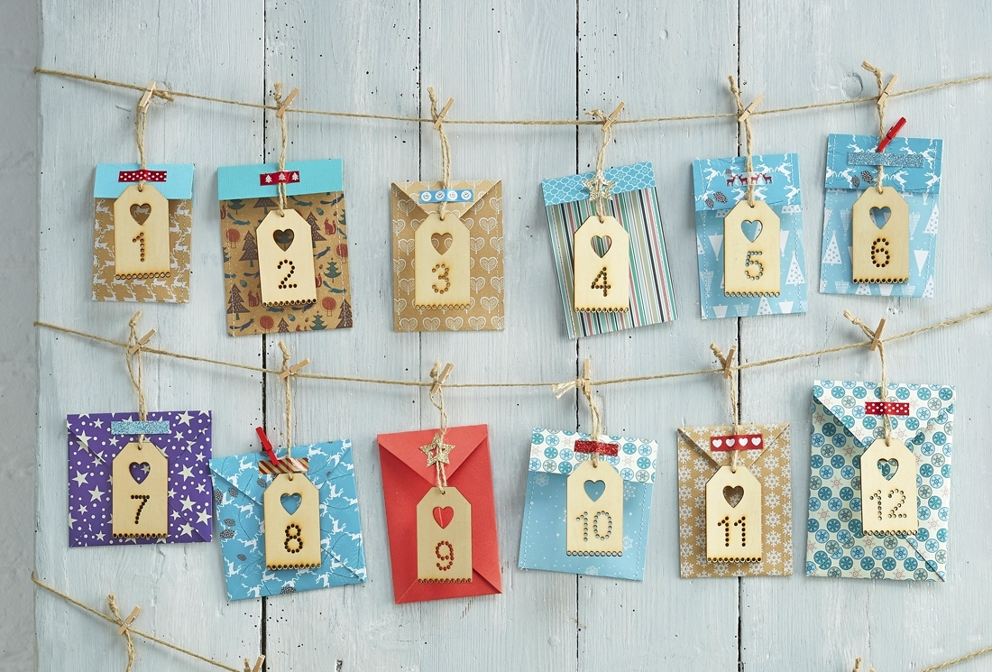 How To Make An Envelope Advent Calendar - Hobbycraft Blog with Create An Advent Calender Wooden