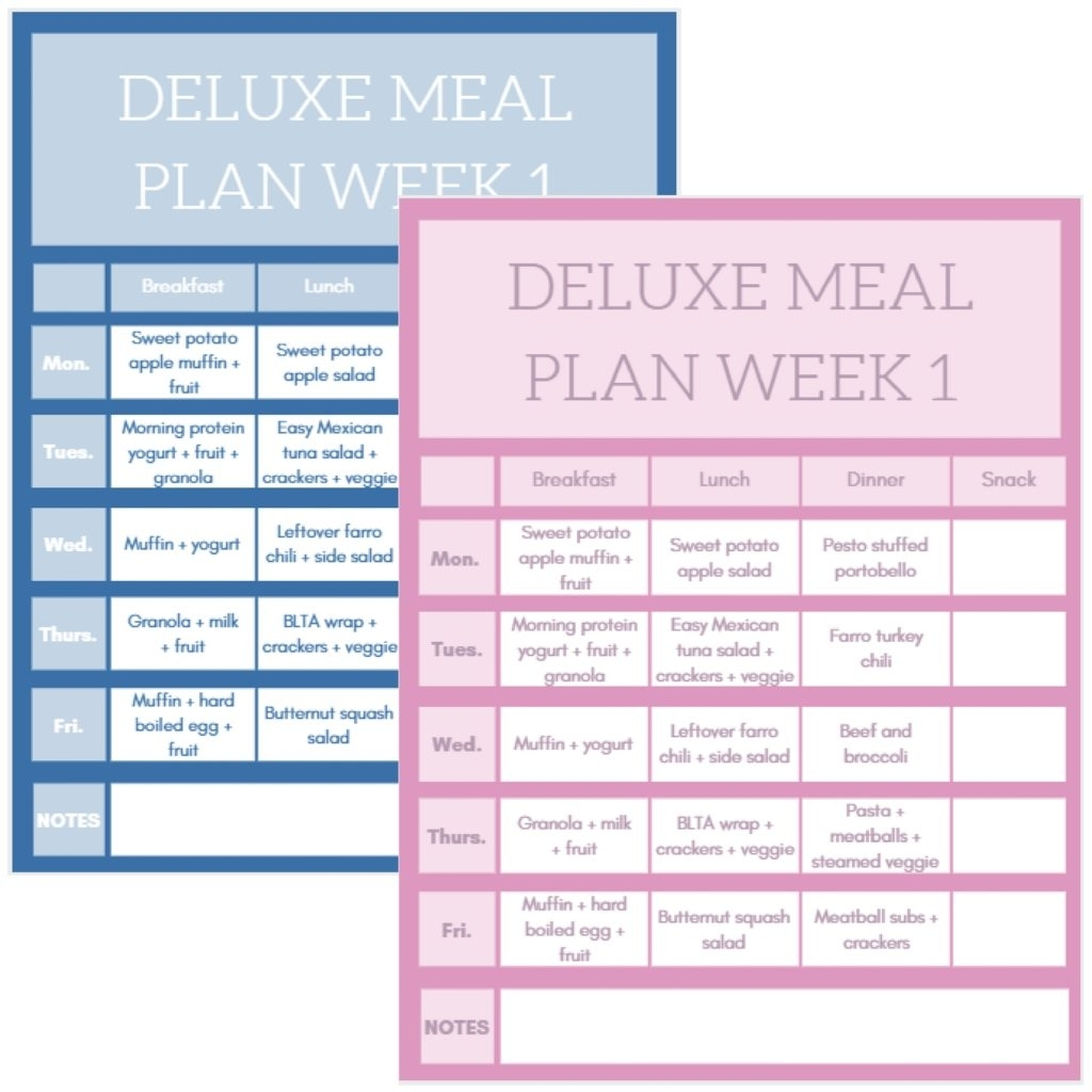 How To Meal Prep: 5 Tips And Tricks For Easy, Healthy Meals intended for 5 Week Lunch Menu Rotation Template