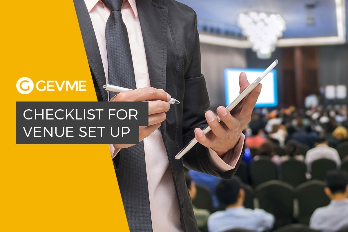 How To Prepare A Venue For An Event - Gevme Blog pertaining to Venue Stadium To Do Checklist Template