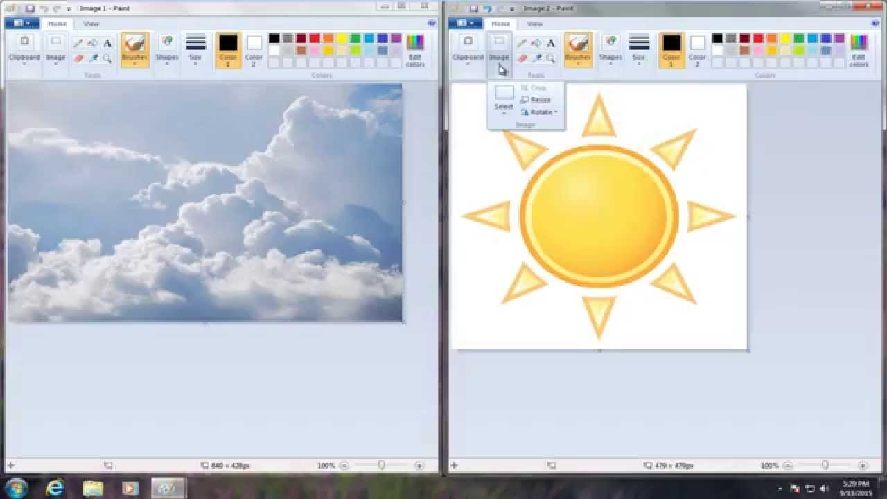 How To Put One Image On Top Of Another Image In Microsoft Paint inside How To Overlap Pictures Microsoft Word 2013