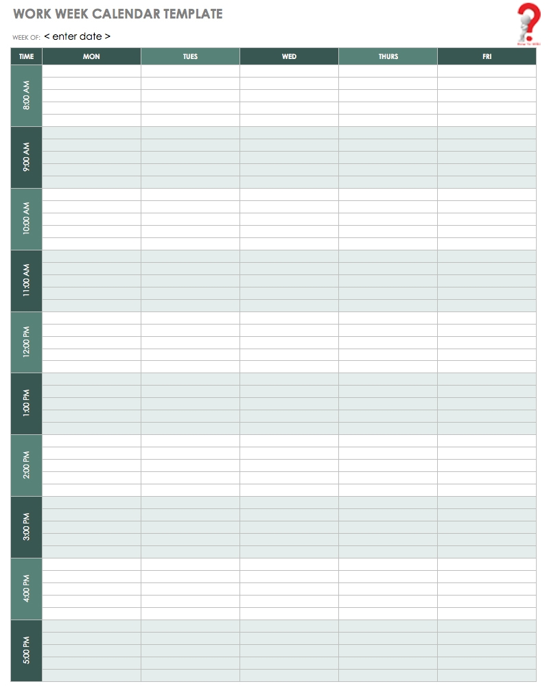 How To Schedule Your Week With Weekly Calendar Template | How To Wiki with Days Of The Week Calendar Template