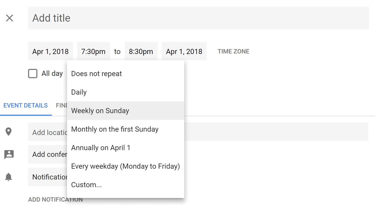 How To Set Up Repeating Event In Google Calendar On Last Day Of Month with Set Up An Event Calendar