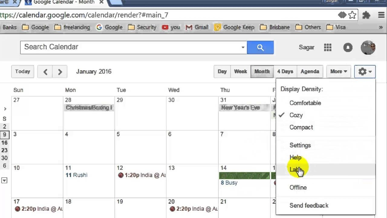 How To Show Year View In Google Calendar - Youtube throughout Year At A View Calendar