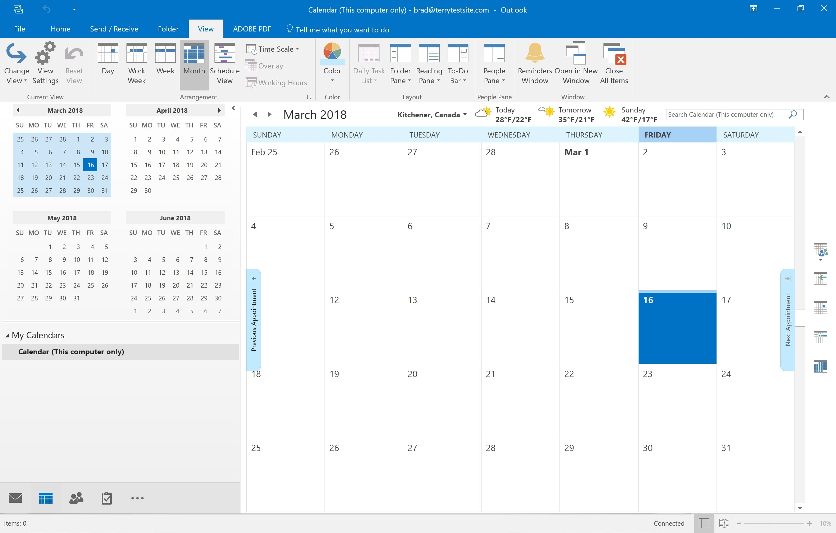 How To View And Customise Calendars In Outlook 2016 - Hostpapa throughout How To See A Calendar In Outlook