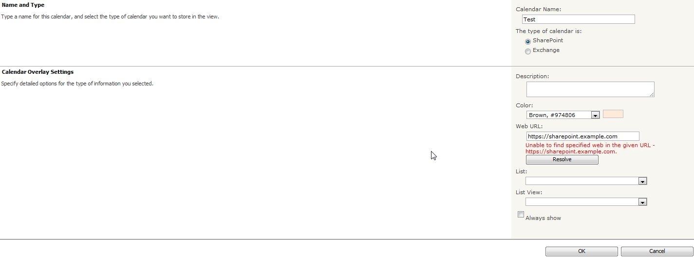 I Broke I.t.!: Calendar Overlay Malfunction Error In Sharepoint 2010 throughout Sharepoint 2013 Calendar Overlay Settings