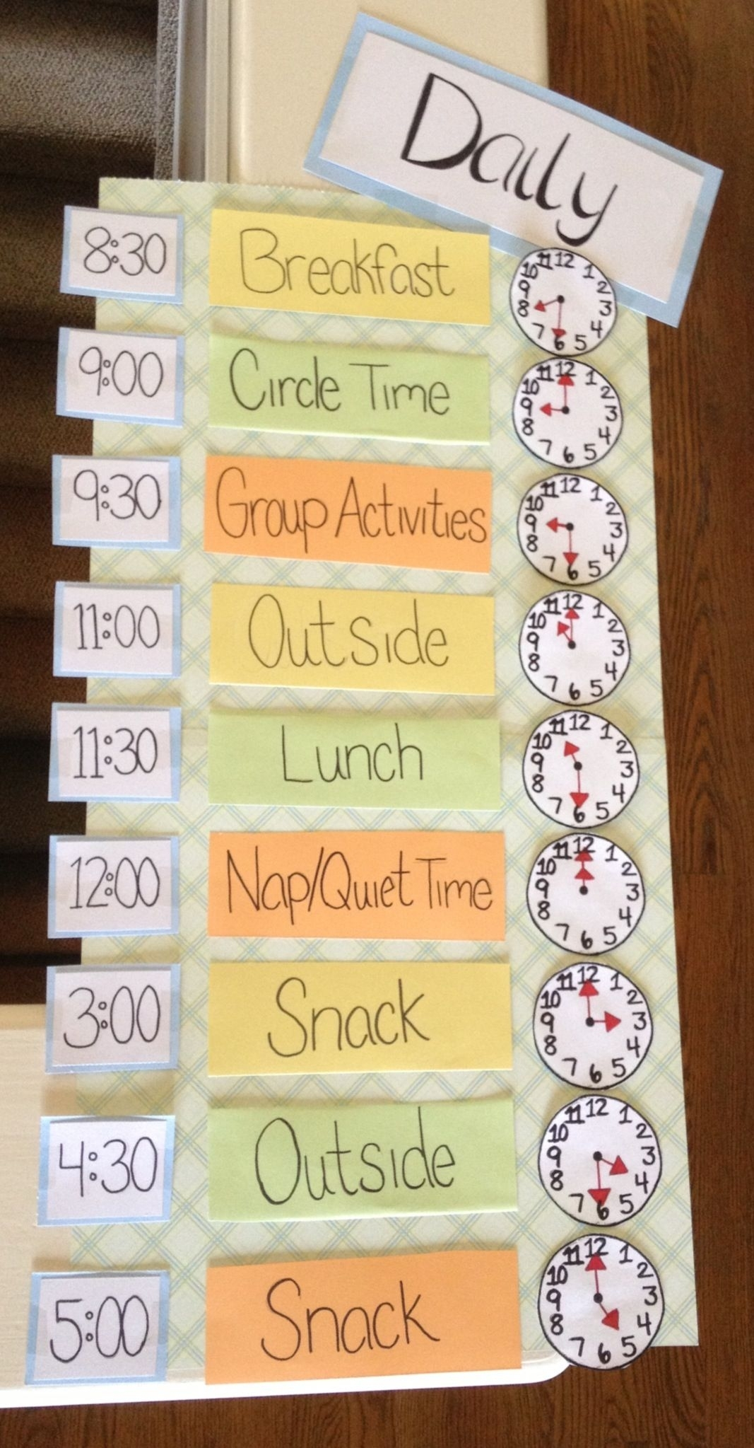 I Made This Daily Schedule For Early Childhood Education within Conducut Chart For Play School