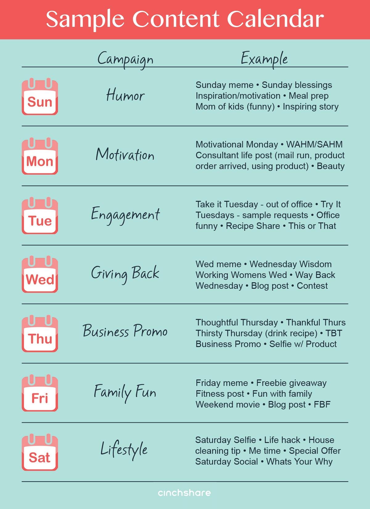 Image Result For Social Media Campaign Examples | Classy Hippie Tea for Social Media Content Calendar Examples