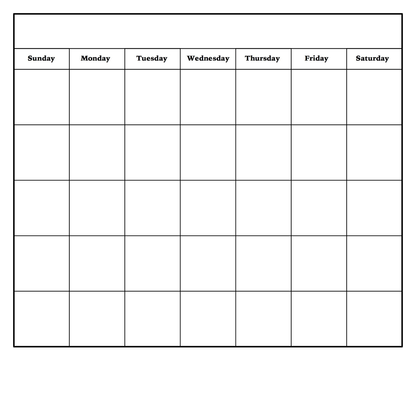 In Blank Monthly Calendar Template Pdf - Free Calendar Collection for Fill In Monthly Calendar Template