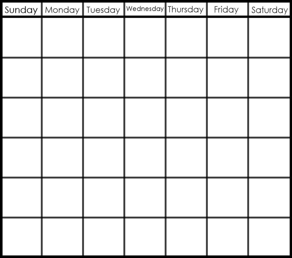 Incredible 8 X 10 Blank Calendar • Printable Blank Calendar Template inside 8 X 10 Print Calendar