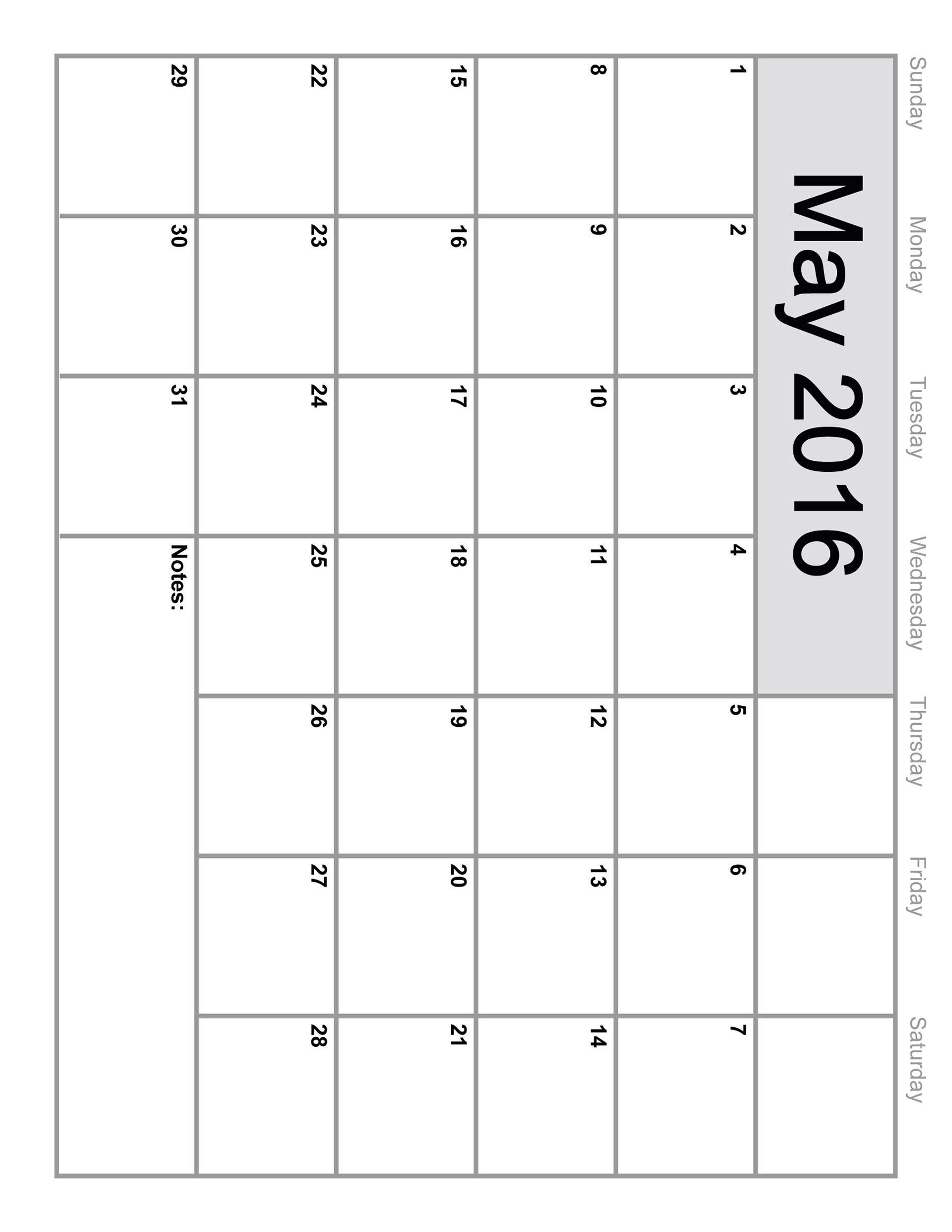 Incredible 8 X 10 Blank Calendar • Printable Blank Calendar Template pertaining to 8 X 10 Print Calendar