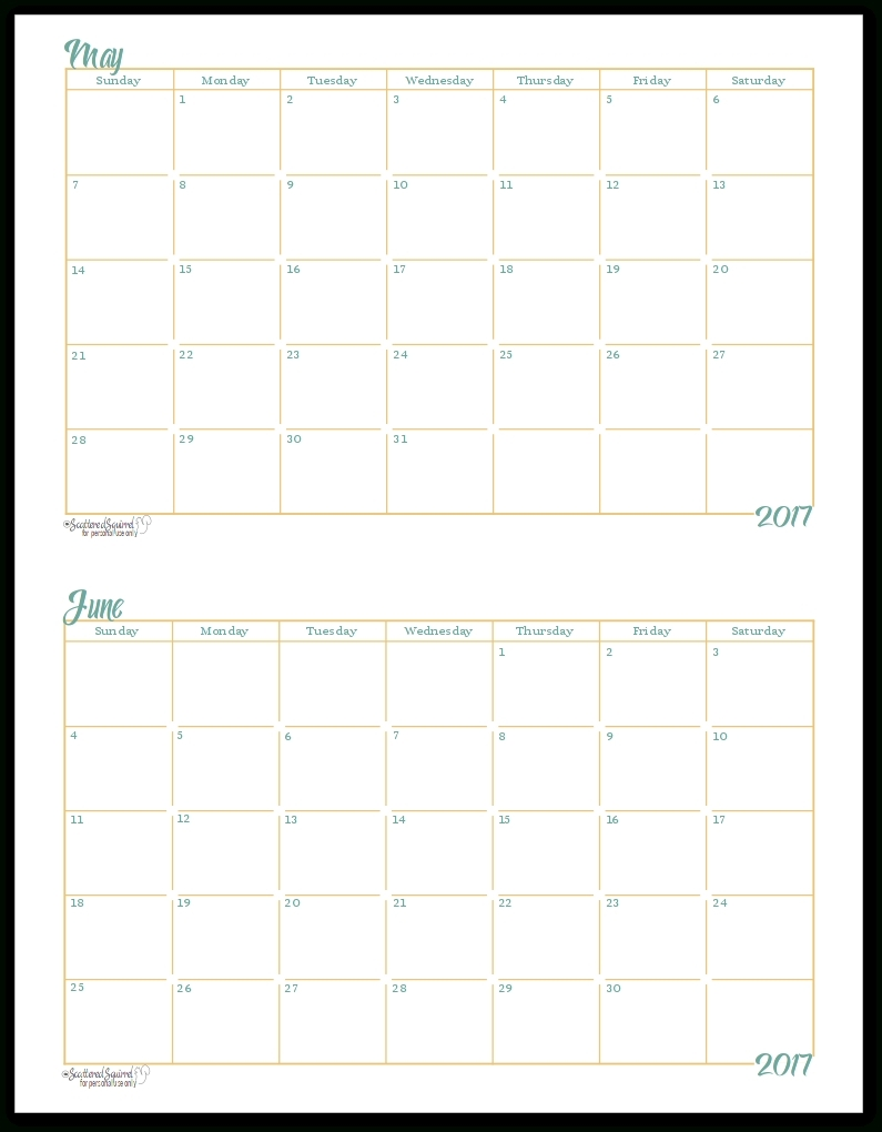 Incredible Blank Calendar Half Page • Printable Blank Calendar Template regarding Half Page Monthly Calendar Printable