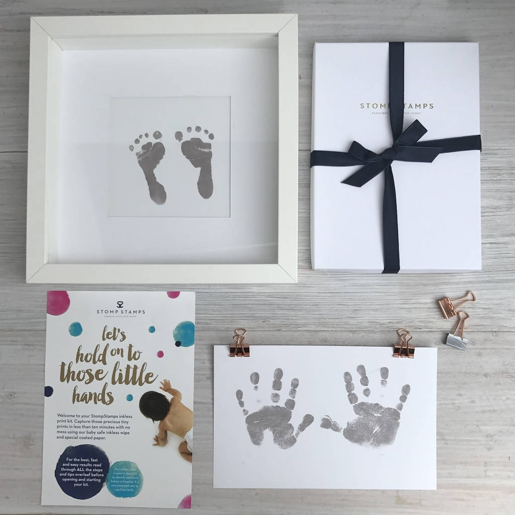 Inkless Handprint And Footprint Kitstomp Stamps intended for Handprint Footprint With Siblings Ideas