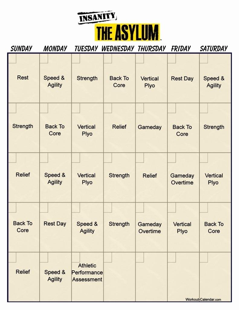 Insanity Asylum Printable Calendar Insanity Asylum Schedule Pdf within Insanity Max 30 Calendar Pdf
