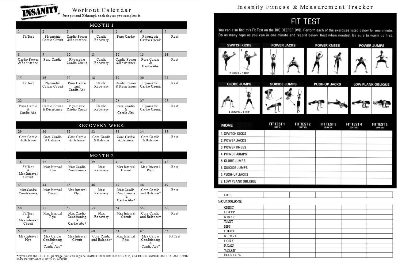 Insanity Calendar Month 3 • Printable Blank Calendar Template inside Insanity Max 30 Calendar Pdf