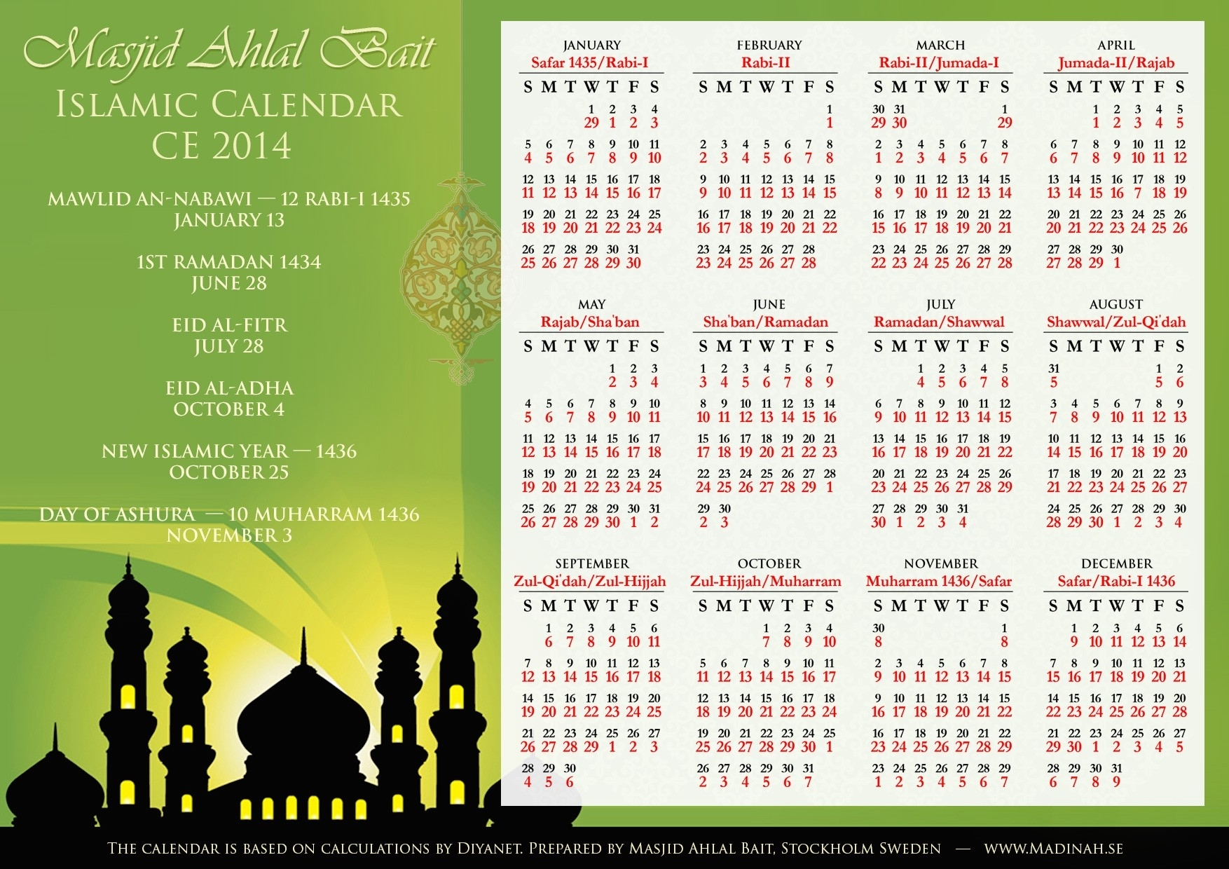 Islamic Calendar 2015 | Nakmuaycorner in Islamic Calendar 2015 Pdf Free Download