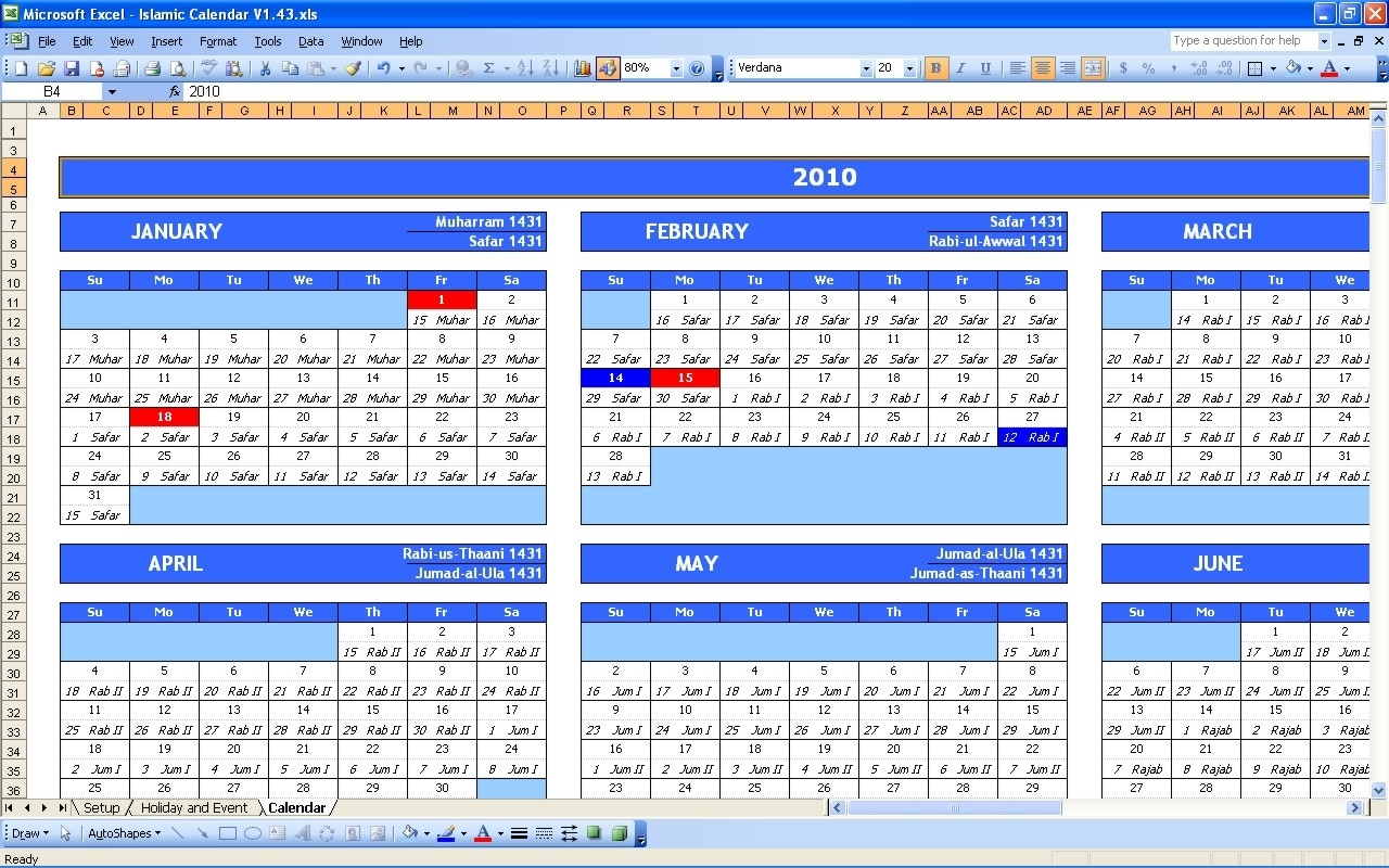 Islamic Calendar 2019 » Exceltemplate regarding Urdu Calendar With Time Table