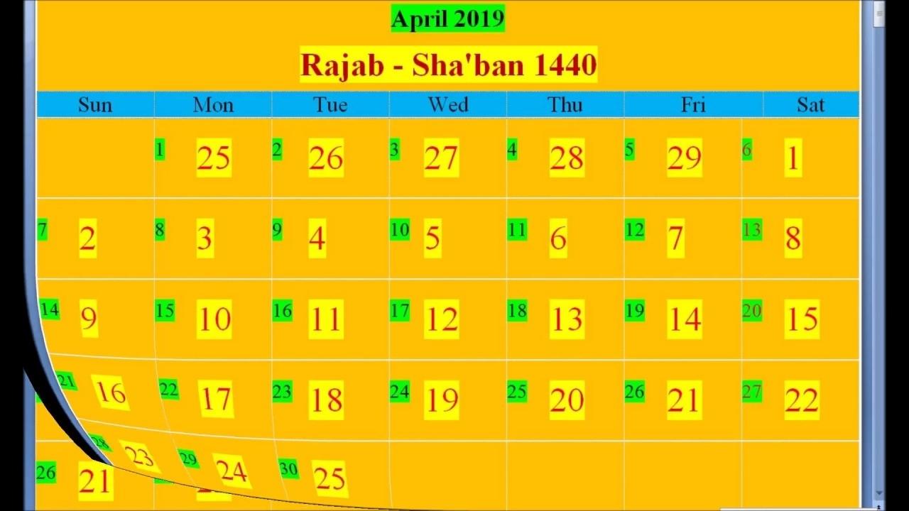 Islamic Hijri Calendar 2019 Based On Saudi Arabia - Youtube in Islamic Calender In Saudi Arabia