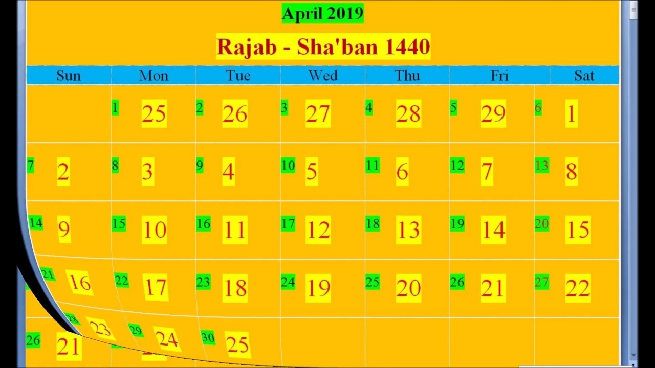 Islamic Hijri Calendar 2019 Based On Saudi Arabia - Youtube throughout Urdu Calendar Of Year 2000 Month December