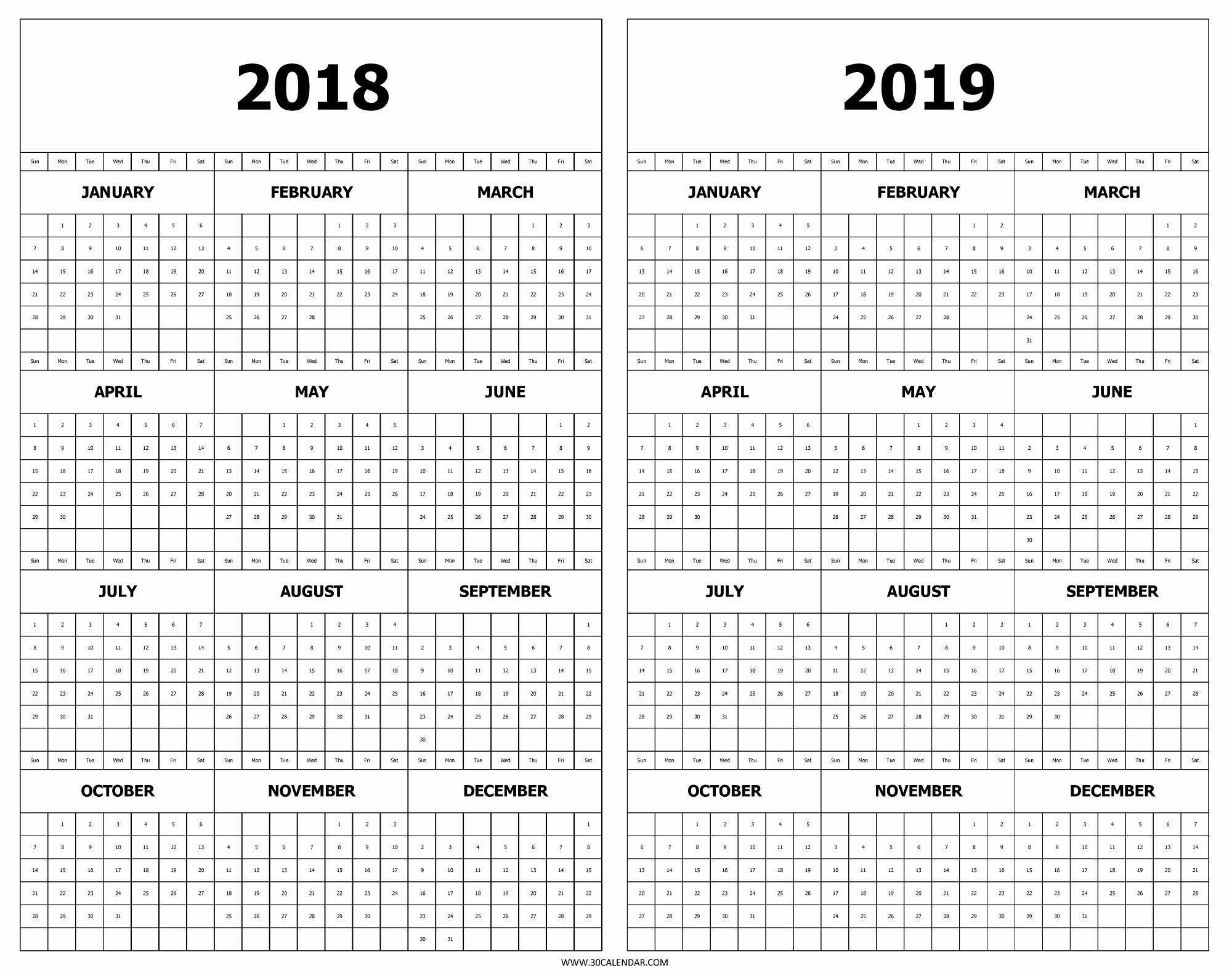 Julian Calendar 2019 2020 Free Printable Three Year Calendar 2018 in 2020 Julian Calendar Printable Pdf