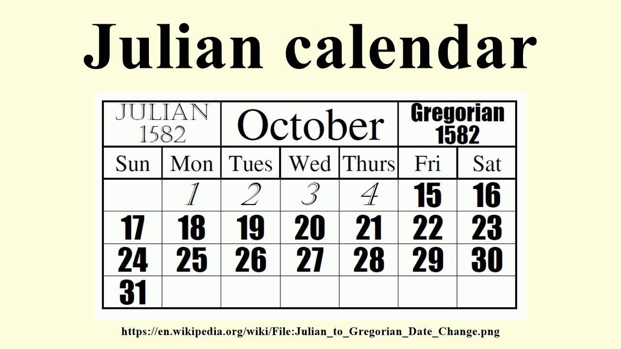 Julian Calendar - Youtube for What Is A Julian Calendar