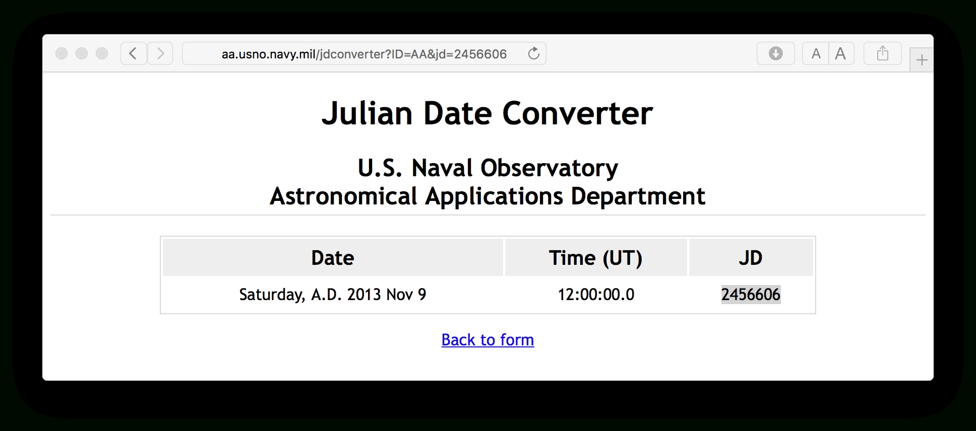 Julian Date To Regular Date Conversion - Stack Overflow inside Calendar November With Julian Date