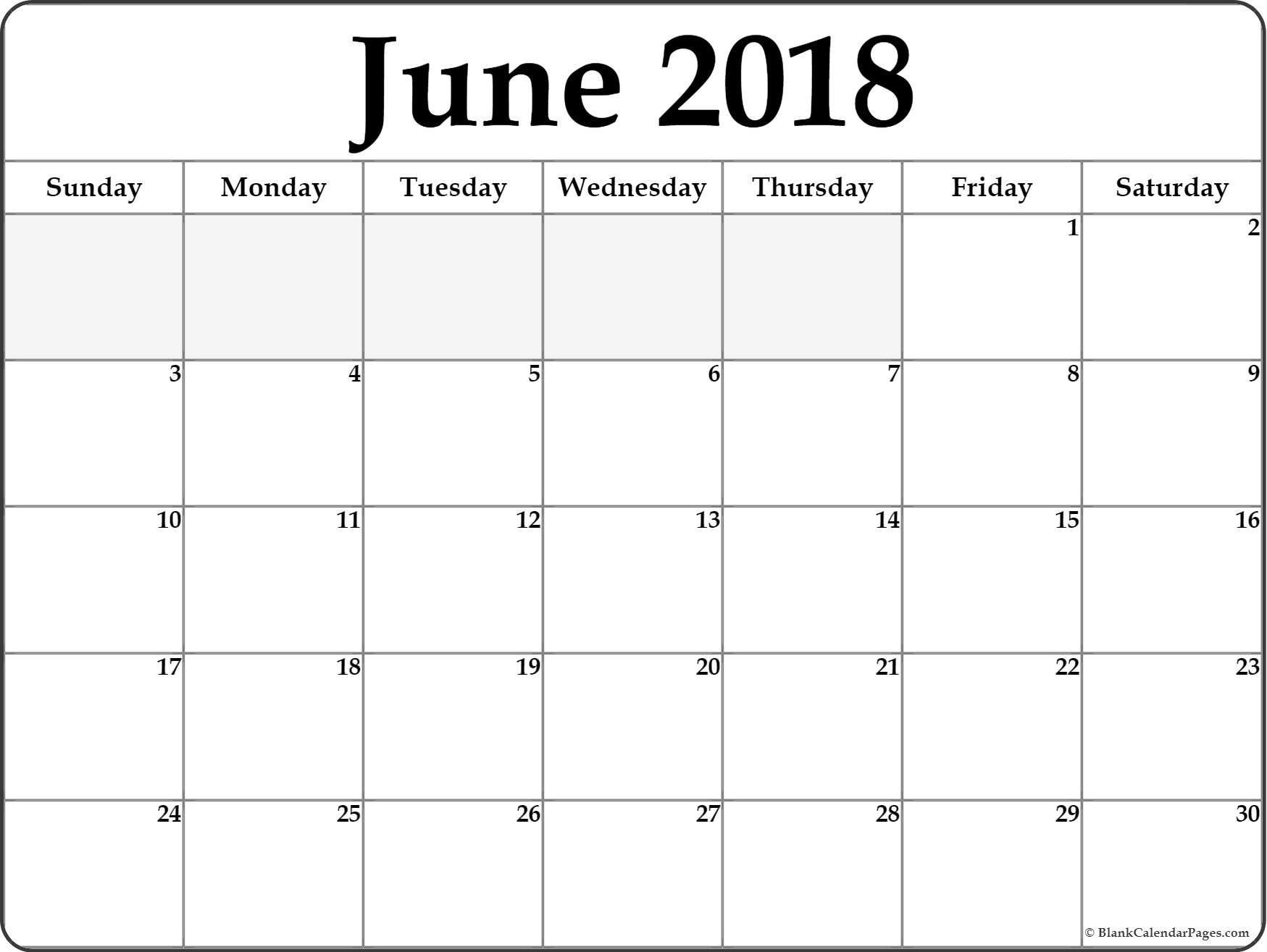 June 2018 Calendar . June 2018 Calendar Printable #june #printable inside June And July Calendar Printable