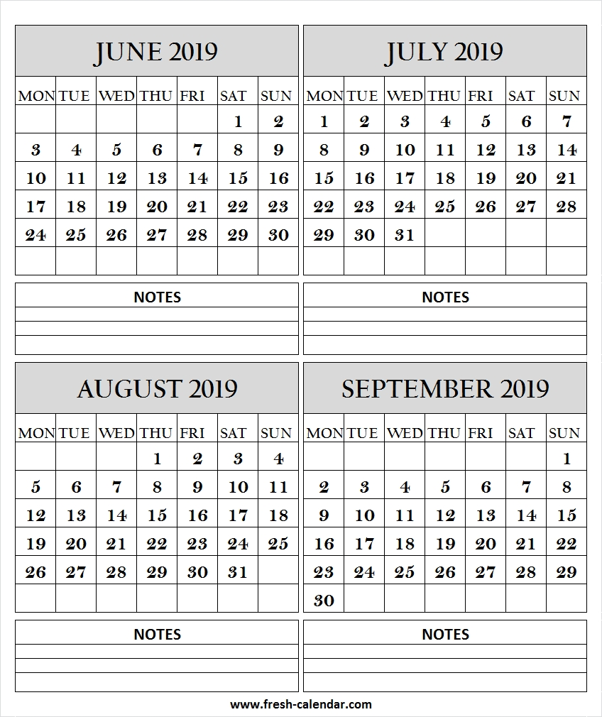 June July August September 2019 Calendar With Lines | 2019 Templates pertaining to Month Of August Calendar With Lines