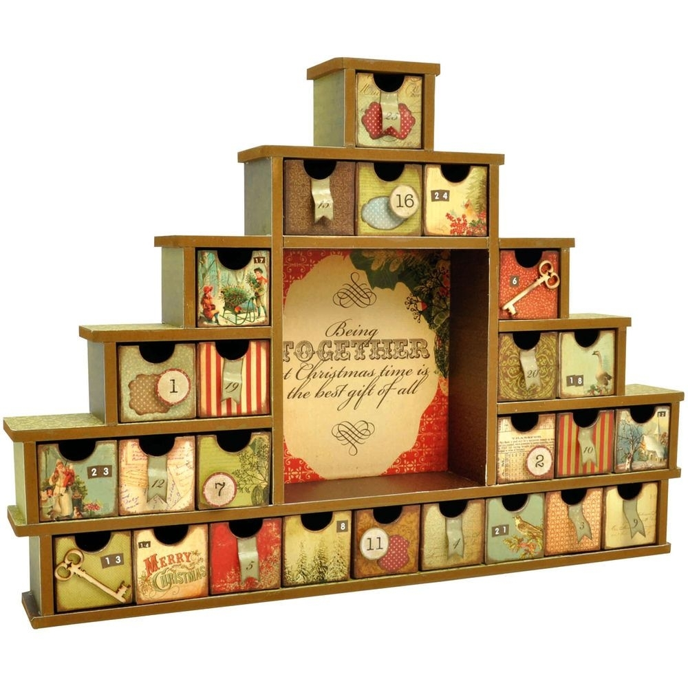 Kaisercraft Beyond The Page Mdf Shadow Box W/drawers Advent Calendar for Wooden Shadow Box Advent Calendar