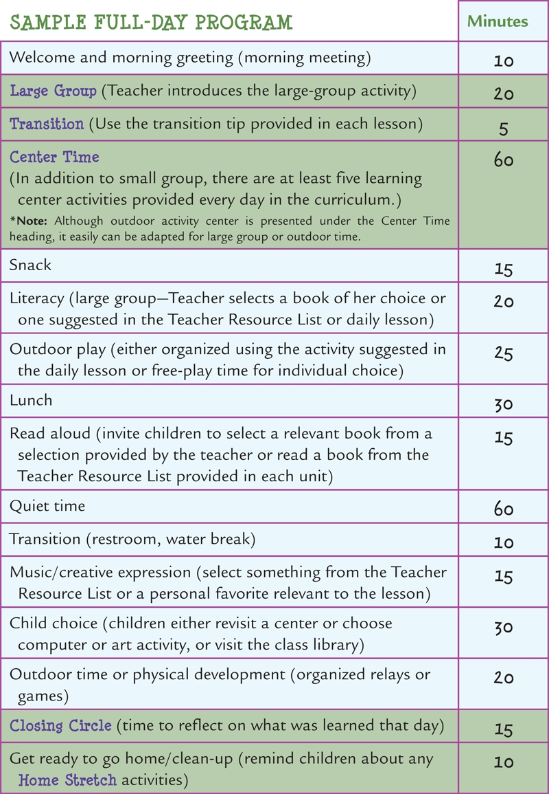 Learn Every Day: The Preschool Curriculum - Sample Schedules with regard to Free Preschool Template For Schedule