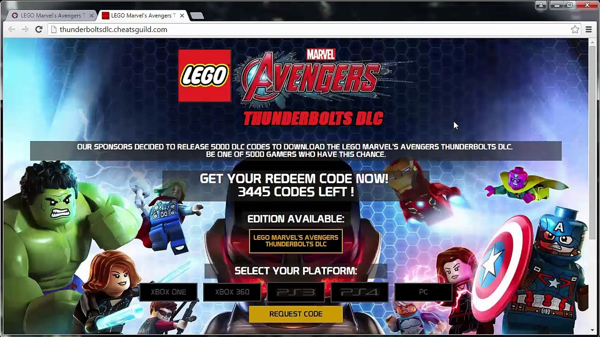 Lego Marvel's Avengers Thunderbolts Dlc Code Generator - Video in Codes For Lego Marvel Avengers