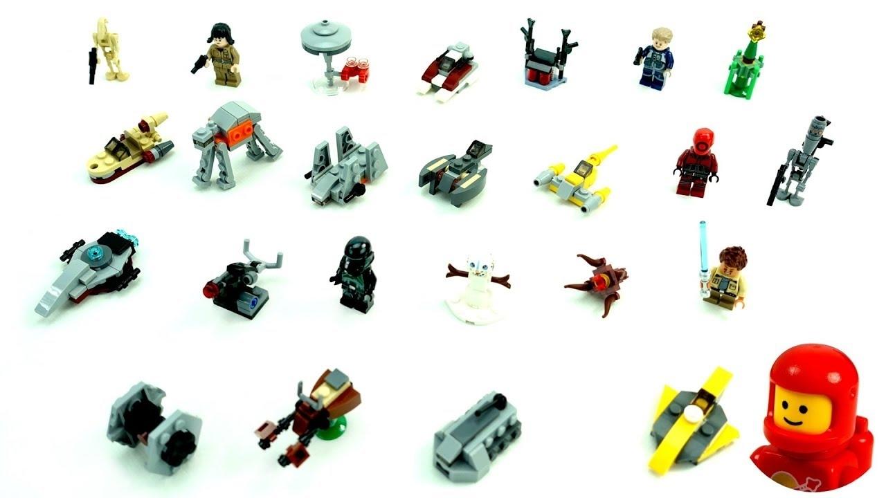 Lego Star Wars 75213 Advent Calendar 2018 Lego Speed Build Unboxing in Lego Star Wars Instructions Advent Calendar
