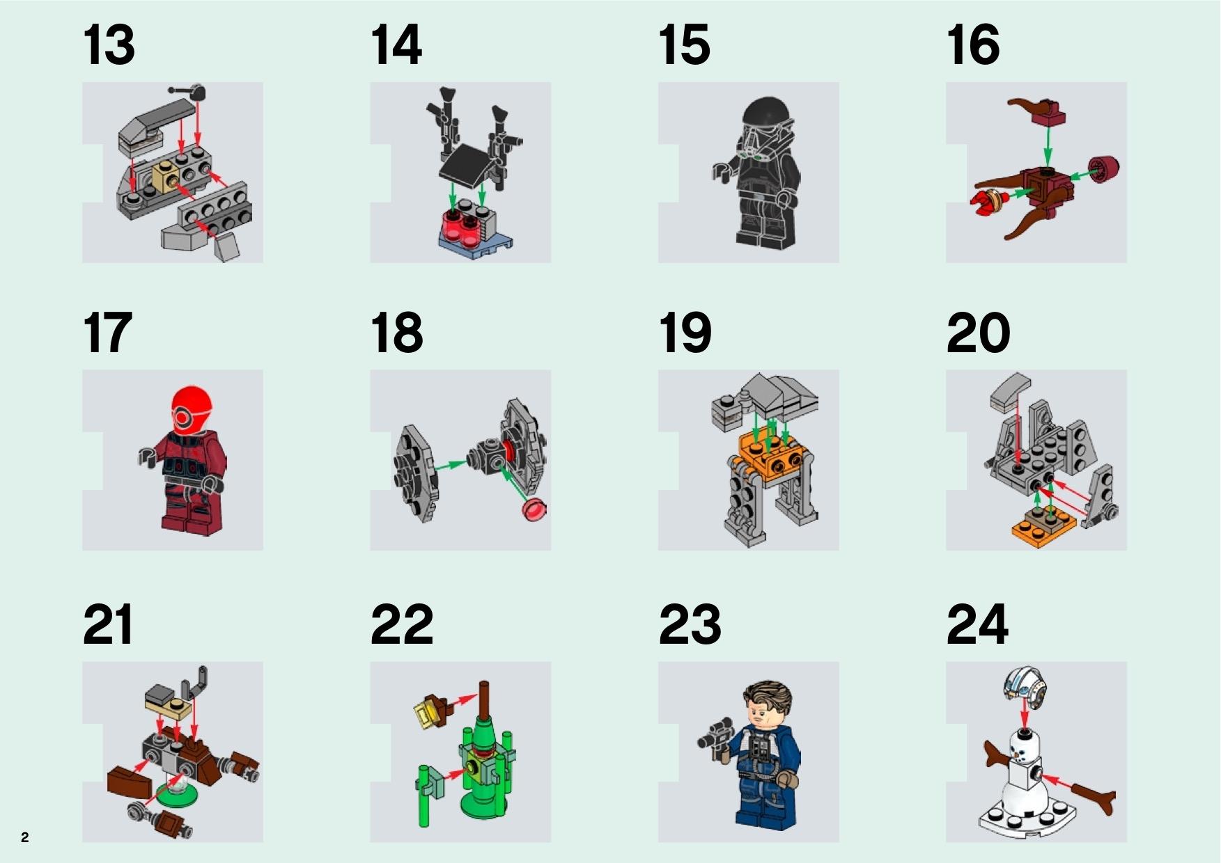 Lego Star Wars Advent Calendar Instructions 75213, Star Wars for Lego Star Wars Instructions Advent Calendar