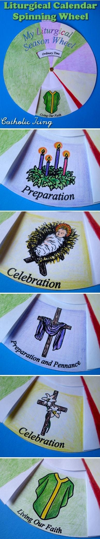 Liturgical Calendar; Printable Craft For Catholic Kids! intended for Wheel Of Church Year Printable For Children