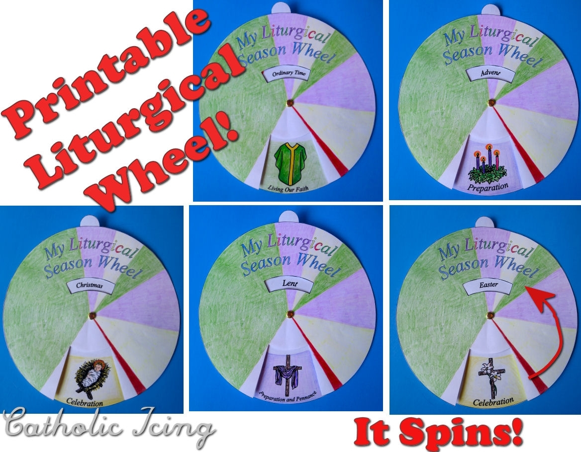 Liturgical Calendar; Printable Craft For Catholic Kids! throughout Template Printable For Monthly Calendar Lesson Plans For Childrens Church