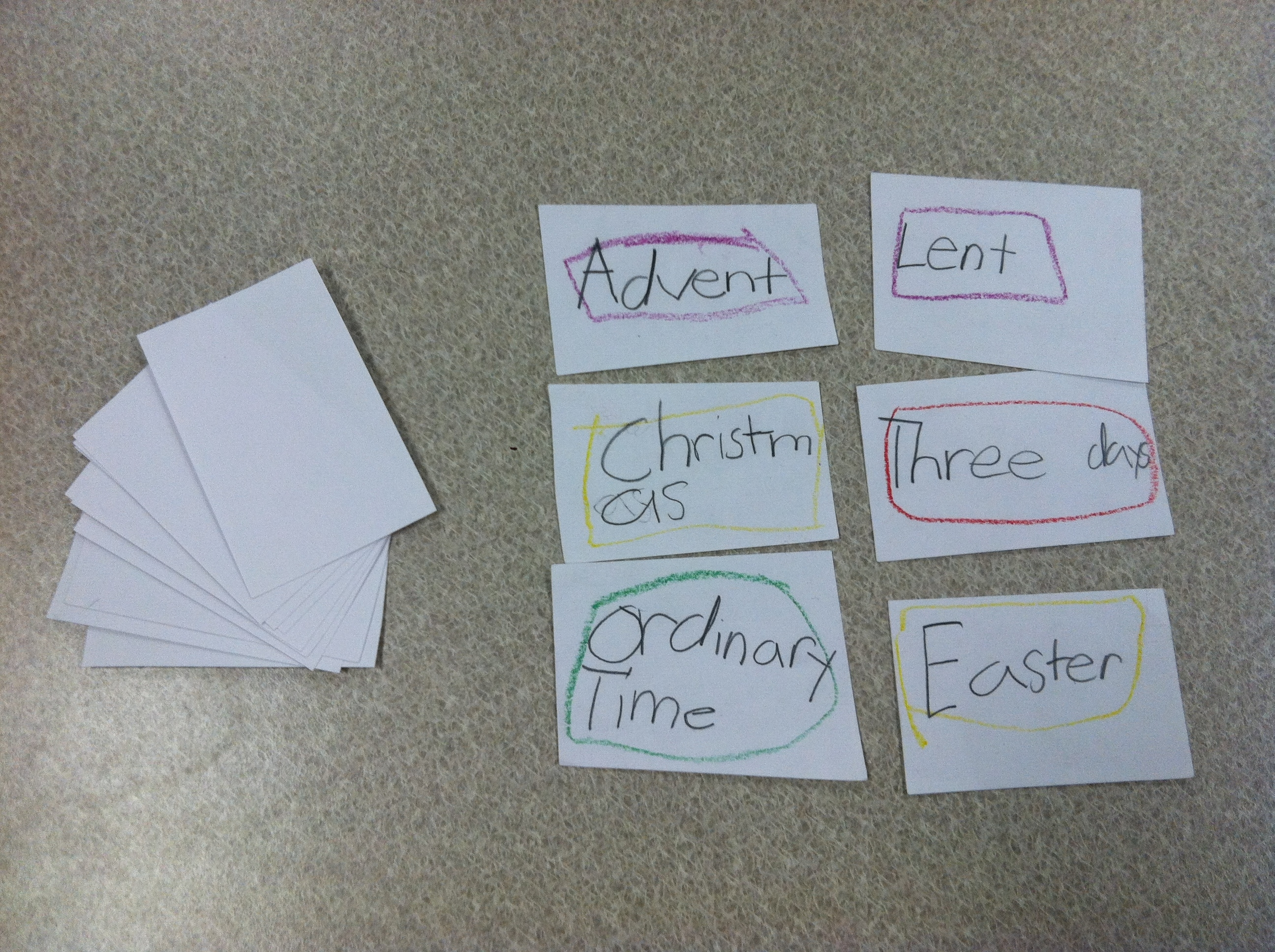 Liturgical Year Lesson Plan And Flashcard Activity | The Religion inside Teaching The Catholic Liturgical Calendar