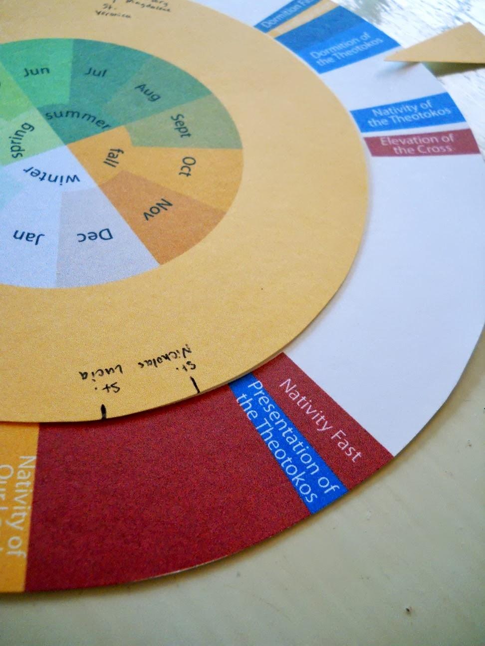 Many Mercies: Church Year - Printable Wheel regarding Wheel Of Church Year Printable For Children