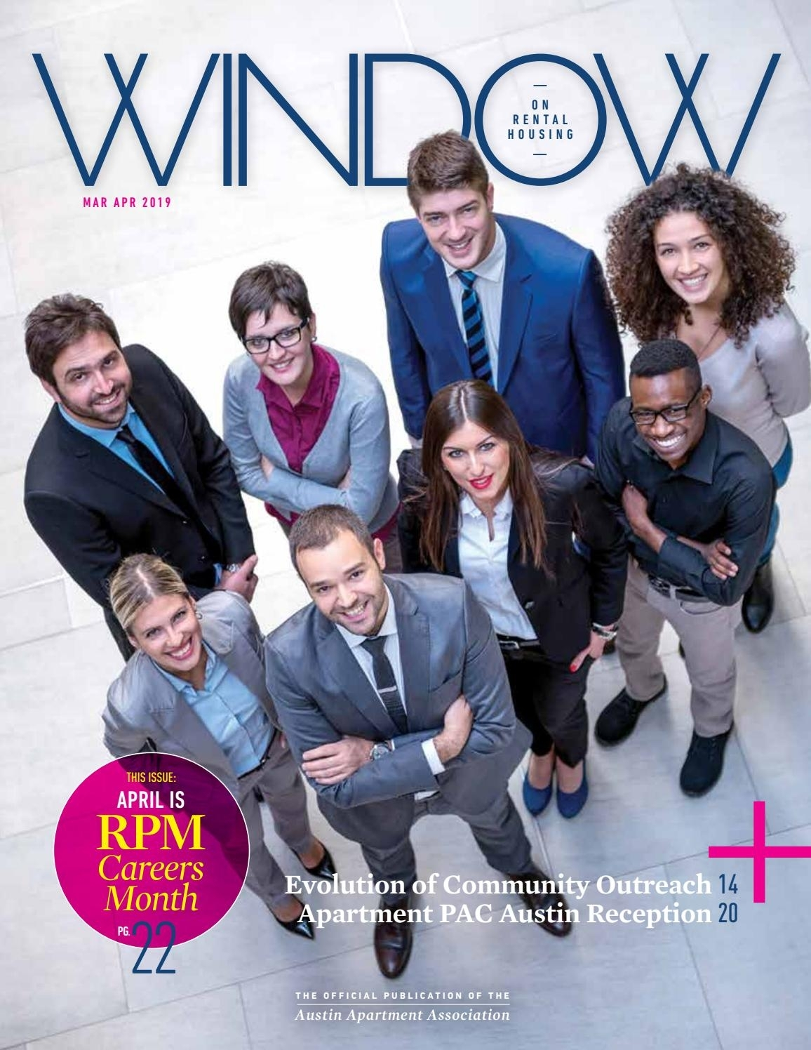 Mar/apr 2019 Window On Rental Housing Magazineaustin Apartment with regard to Free Monthly Calendar Erin Huff