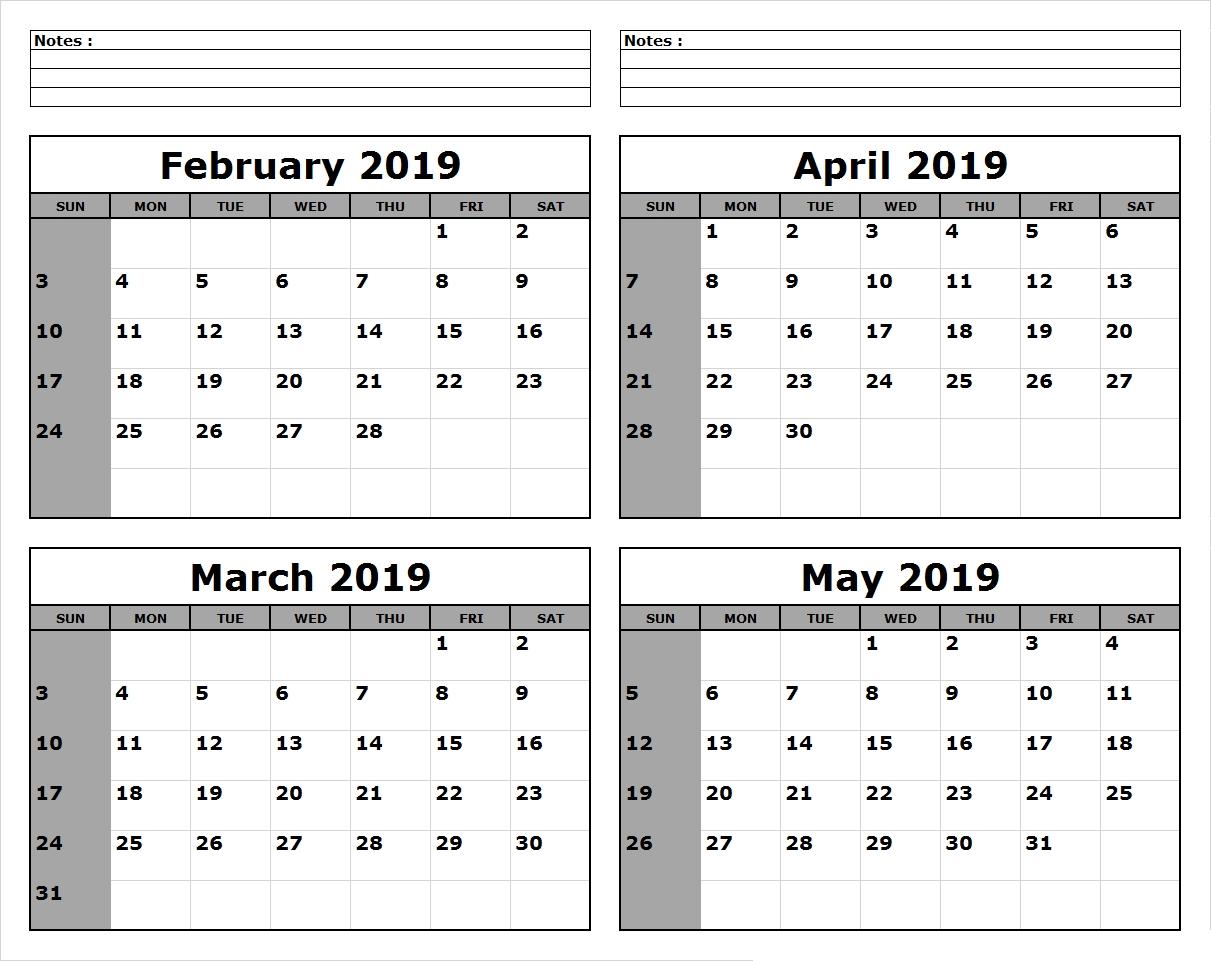 March April May 2019 Calendar Printable #march #april #may regarding 3 Month Calendar To Print