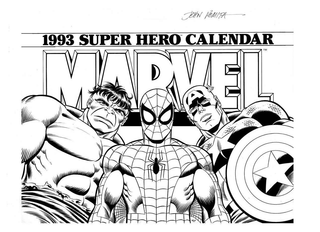 Marvel Coloring Pages Free Printable Coloringstar 1271×924 for Free Printable Adult Superhero Calendars